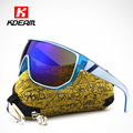 Kdeam Happy Mens Outdoor Sport Sunglasses With Designer Case Fashion Big Sun Glasses Women anteojos de sol gafas UV400 CE