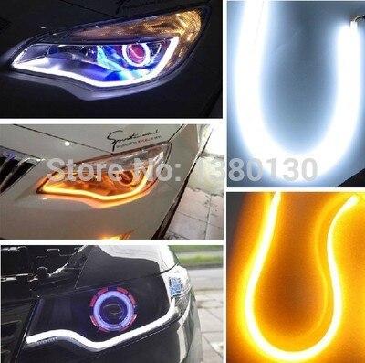 YIJINSHEN 2 х 60см 30см 45см 85см супер яркие дневные ходовые огни LED для автомобилей руководящего сигнала гибкий фары глаза Ангела света