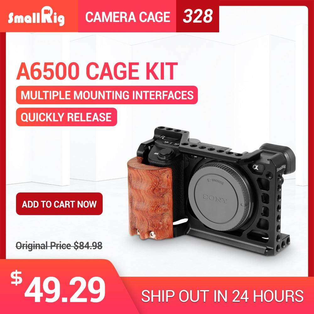 SmallRig 6500 Камера клетка комплект для Sony A6500 Камера с деревянной ручкой сцепление облегающие A6500 Кейдж стабилизатор 2097