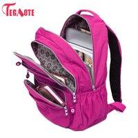 TEGAOTE School Backpack For Teenage Girl Mochila Feminina Kipled Women Backpacks Nylon Waterproof Casual Laptop Bagpack