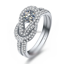 Pure Silver 925 Sterling Solid Silver Synthetic Diamant Love S925 Ring (YD)(China)