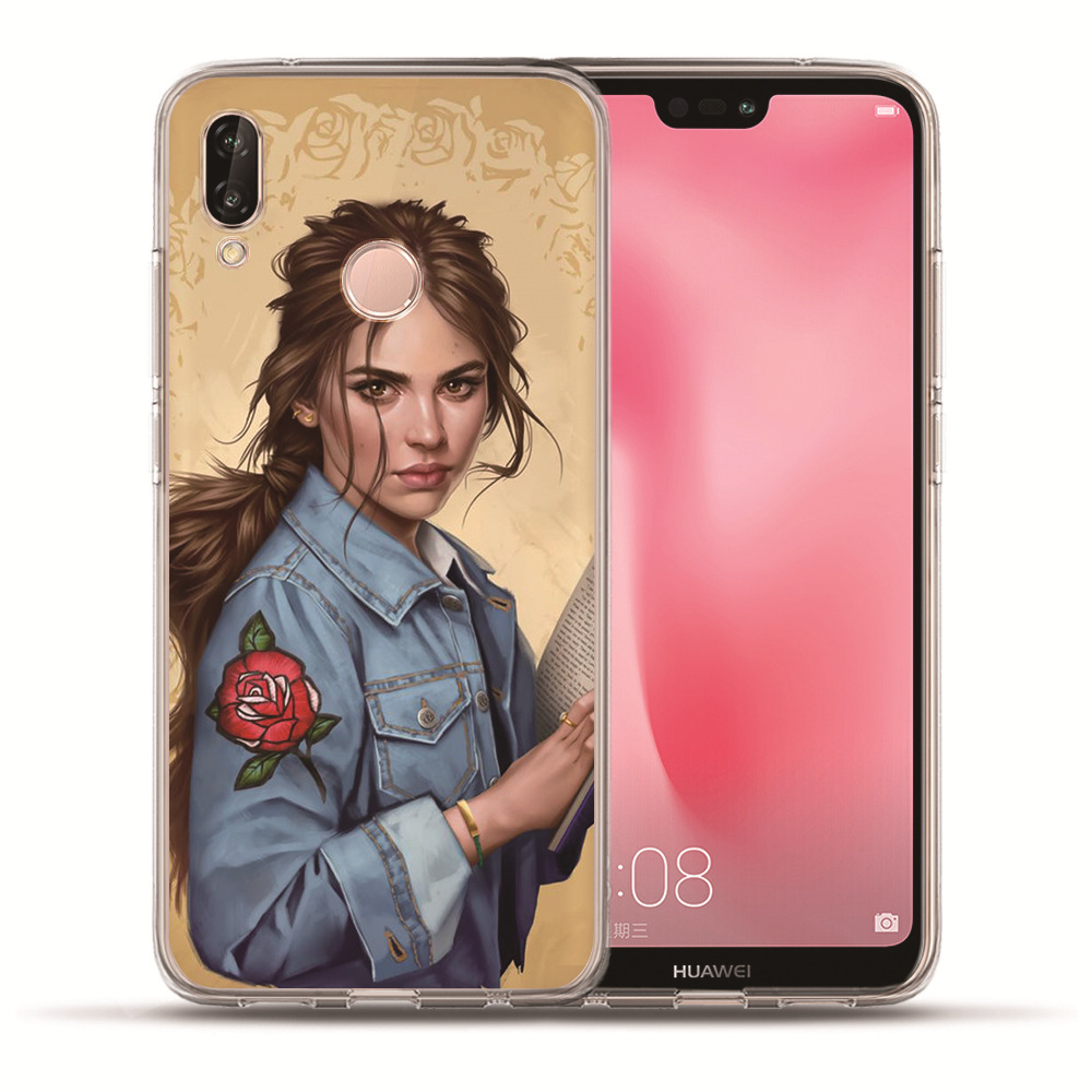 Fashion Princess Snow White Cinderella Elsa Tinker Bell Phone Case Etui For Huawei Honor 10 Lite 9 8 7A 7C 7X 7 6A Coque Funda in Fitted Cases from Cellphones Telecommunications