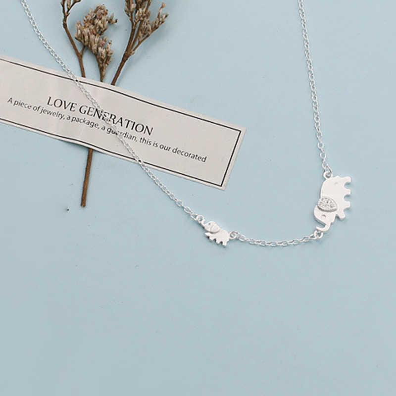 XIYANIKE 925 Sterling Silver śliczne w kształcie słonia moda urocze łańcuch dla kobiet naszyjnik Choker naszyjniki VNS8366