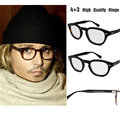 Alta Calidad oculos Johnny Depp Gafas occhial Ronda Retro Vintage Marco Hecho A Mano Marco Óptico Mujeres Hombres Gafas Graduadas