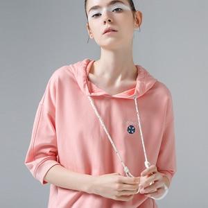 Image 3 - Toyouth, 2019, verano, camisetas con capucha, camiseta bordada de media manga, camiseta femenina Rosa Blanca, Camiseta básica para mujer, camisetas casuales femeninas