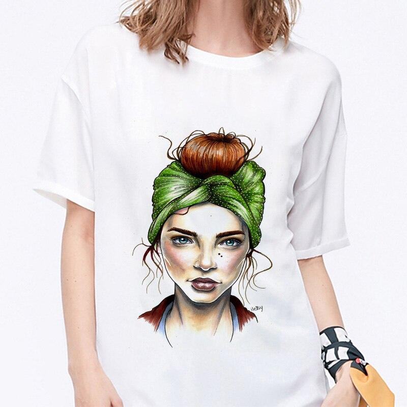 Summer 19 T shirt Women Harajuku Print Vintage Female Casual Fashion Tshirt O-neck Short Sleeve T-shirt White Tops Clothing 11