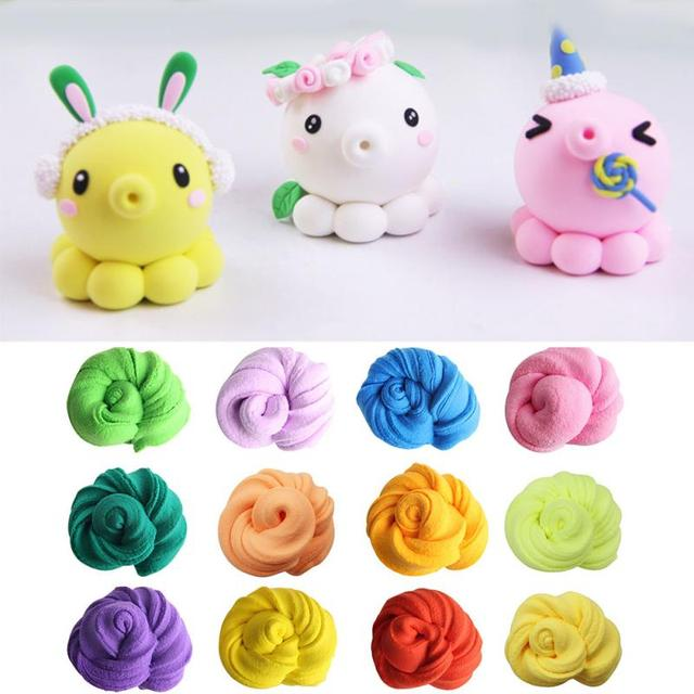 50g Fluffy Slime Toys Diy Squishy Kids Toy With Box Polymer Light