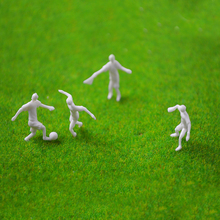 Teraysun New Mixed 50pcs Scale 1:75 Miniature Football Player Model Sport People Mini Soccer for Landscape
