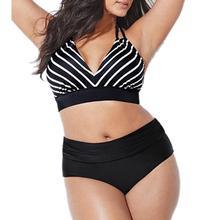 7ad51031a334bc 4XL Grote Grote Plus Size Bikini Set Badmode voor Mollige Vrouwen Sexy Badmode  Push Up Sling Badpak Bikini Badpak