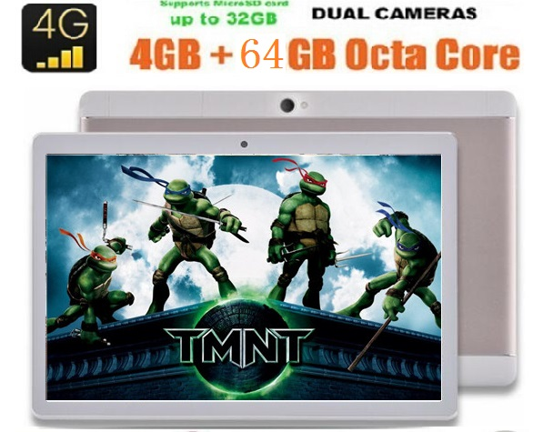 New 10 inch Tablet PC 3G 4G Lte Octa Core 4GB 64GB Dual SIM Cards 8