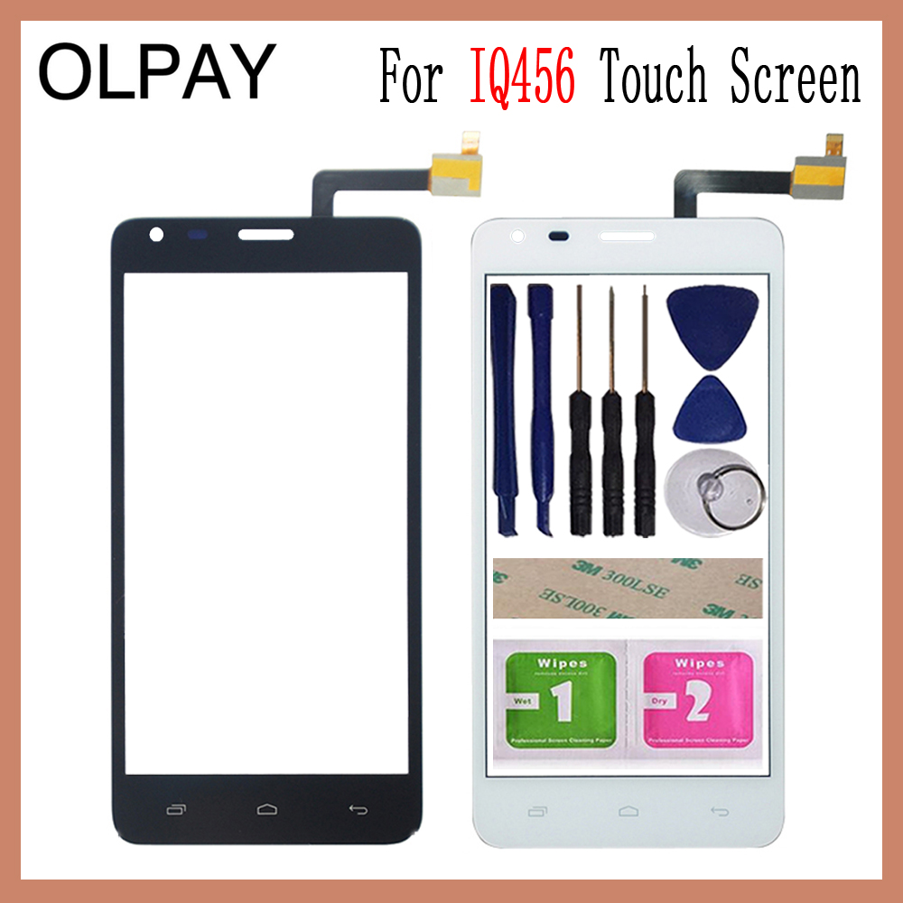 OLPAY 5.0'' For Fly IQ456 ERA Life 2 IQ 456 Touch Screen Digitizer Panel Repair Parts Touch Screen Front Glass Lens Sensor Tools