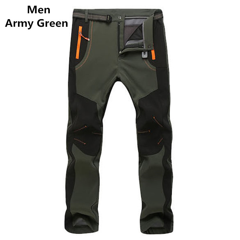 c50e13508c 2017 New Winter Men Women Tactical Pants Outdoors Soft shell Trousers  Waterproof Windproof Thermal for Camping Ski Climbing-in Casual Pants from  Men s ...
