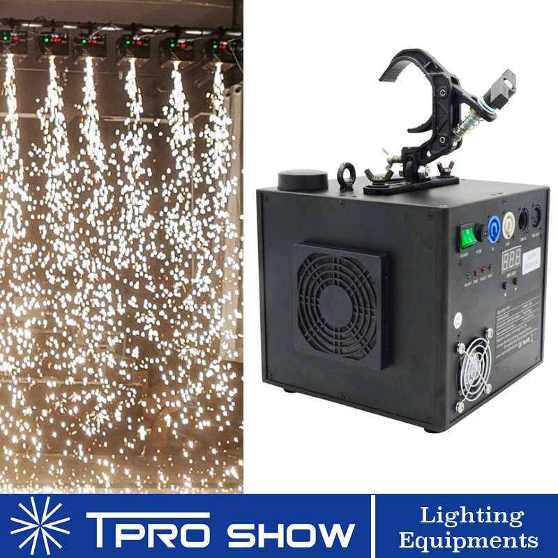 400W Sparklers Waterfall Fireworks Pyrotechnics Remote Dmx Control Cold Fire Machine Spark for Fixed Stage Lighting