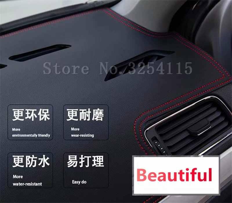 Per Toyota vios 2002 2003 2004 2005 2006 2007 In Pelle Dash Zerbino Cruscotto Copertura Pad Dash Zerbino Tappeto Car Styling accessori personalizzati