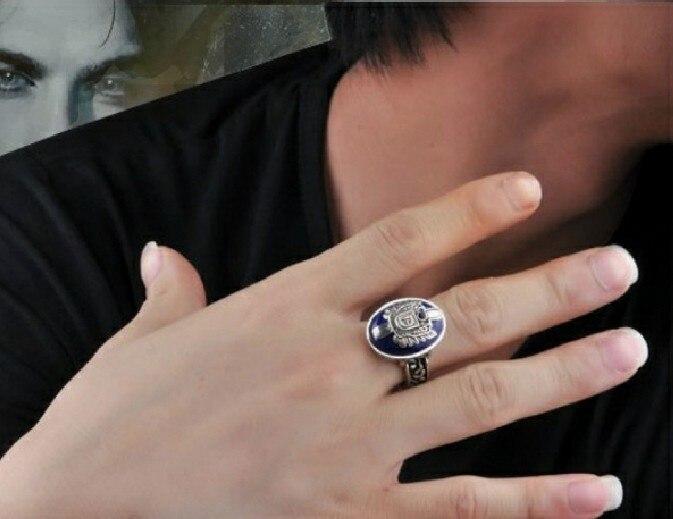 5 sets !Damon Vampire Diaries retro punk ring - Joy Wong store