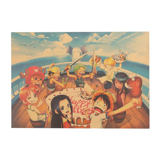 One Piece Poster Birthday Party 51.5X36cm