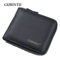 New Arrival Men Wallets 100 Genuine Leather Zipper Around Wallet Card Holder Coin Purse
