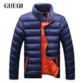 GUEQI ADD Fleece Men Warm Jackets Plus Size M-4XL Stand Collar Style Outerwear 2017 Windproof Man Casual Winter Coats