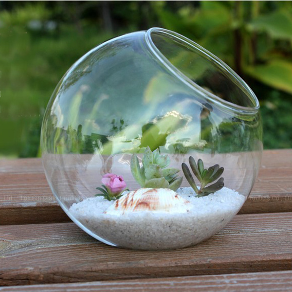 2016 Hot Sale 15cm Clear Round Glass Vase Bottle Terrarium Hydroponic Container Pot Flower DIY Home Room Table Wedding Decor