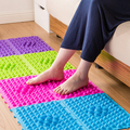 29*39cm Tpe Foot Massage Pad Toe Pressure Plate Explosion Pebbles Shiatsu Blanket Yoga Mat Game Props 6 Color Optional