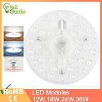 LED Downlights 12W 18W 24W 36W AC220V 240V lámparas led mini iluminación del módulo LED fuente redondo dormitorio cocina iluminación interior