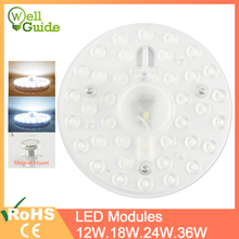 LED Downlights 12W 18W 24W 36W AC220V 240V led Lamps mini LED Module Lighting Source Round Bedroom Kitchen Indoor Lighting cheap Green Eye Knob switch Dining room ROHS 3 year White Acryl LED module FOR Downlight 12W 18W 24W 24LEDs 36LEDs 48LEDs