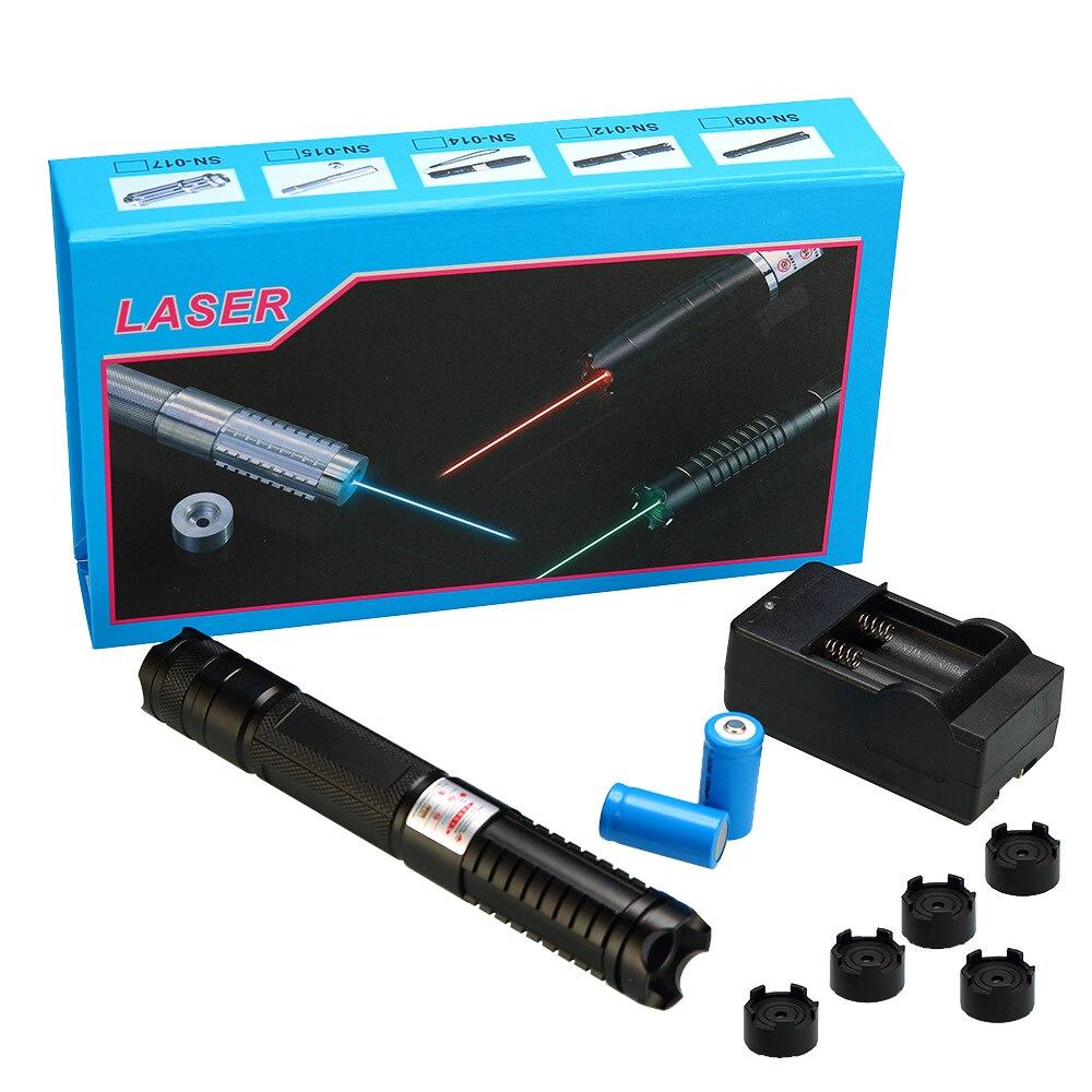 Haute Puissance 5000 m Pointeurs laser bleu 450nm Lazer lampe de Poche Allumette Brûler cigares lumière bougie noir Chasse stylo laser