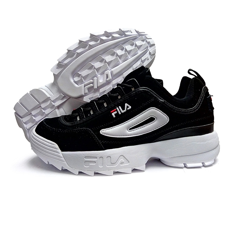 FILA Disruptor II 2 Running Shoes Summer Sport Shoes Men Breathable Zapatillas Women Increased Sneakers size 36-44 Black White topsell 2017 men women 3 casual shoes black red white solomons runs breathable shoes free shipping size 40 46 speedcros