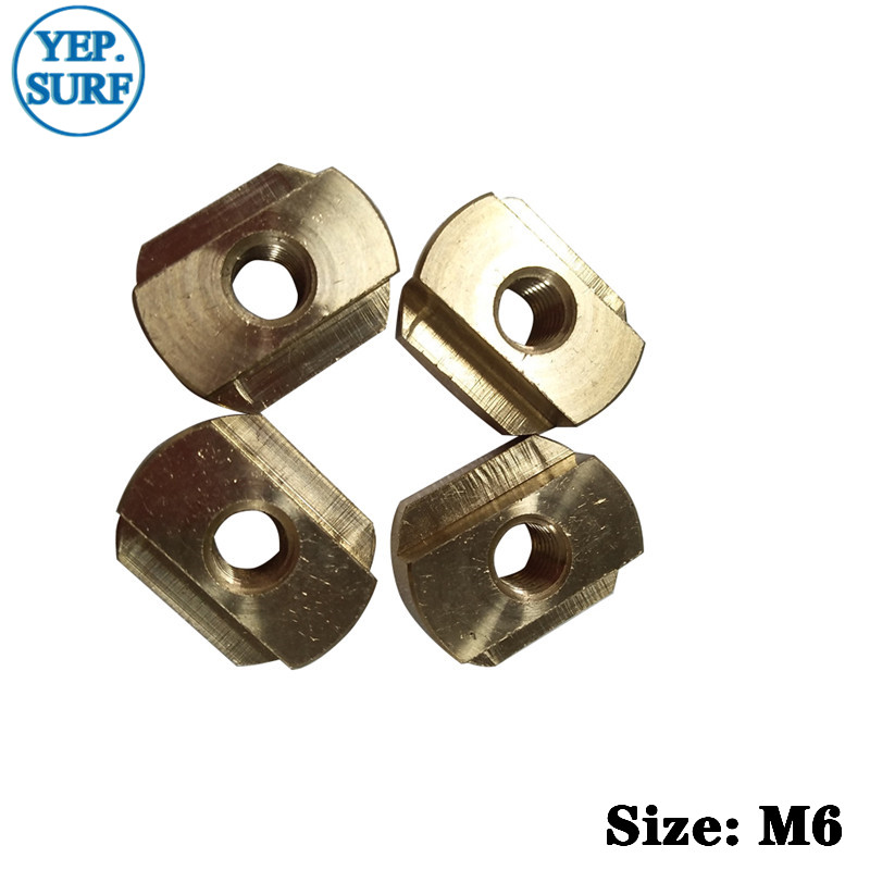 FoilMount 4pcs Per Set  Size M8/M6 Hydrofoil Mounting T-Nuts For All Hydrofoil Tracks