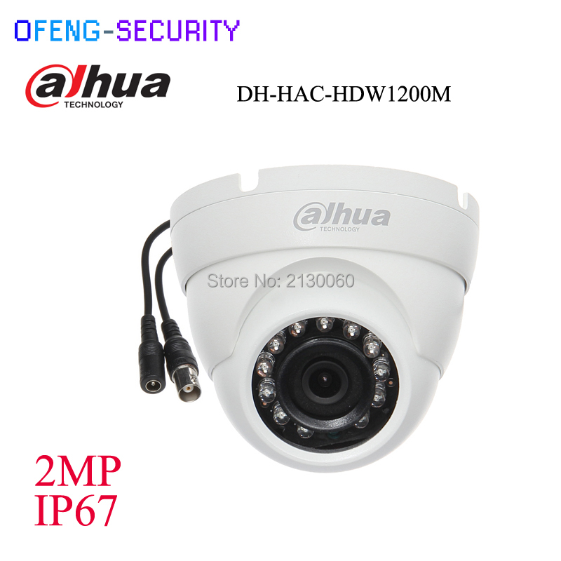 dahua english version Security CCTV Camera 2MP 1080P HDCVI HAC-HDW1200M HDCVI IR Eyeball Camera Smart DH-HAC-HDW1200M стоимость