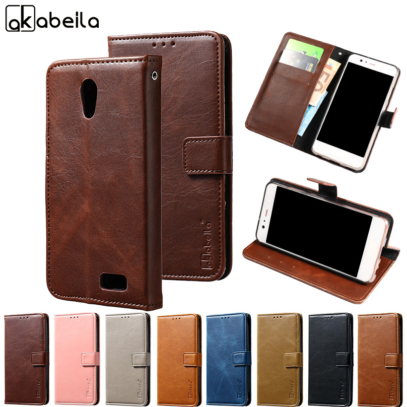 AKABEILA PU Leather Cases For Lenovo A319 Flip Wallet Coque For Lenovo A319 Case Cover A 319 Fundas 4.5 inch With Card Hold