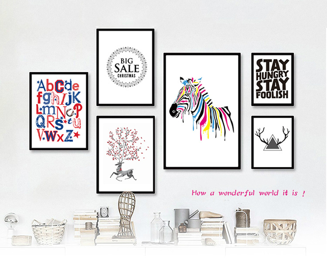 Sets 5 wandmalerei Zebra deer kombination kombination von ...