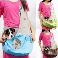 2017 Backpack Nature Canvas Breathable Windproof Single Shoulder Canvas Dog Cat Carrier Pet Sling Bag 40%