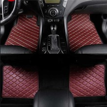 Mini 4PC Universal Car Floor Mats Leather Waterproof Black Beige Red Brown Coffee Auto Floor Foot Mat Fit For Most Cars