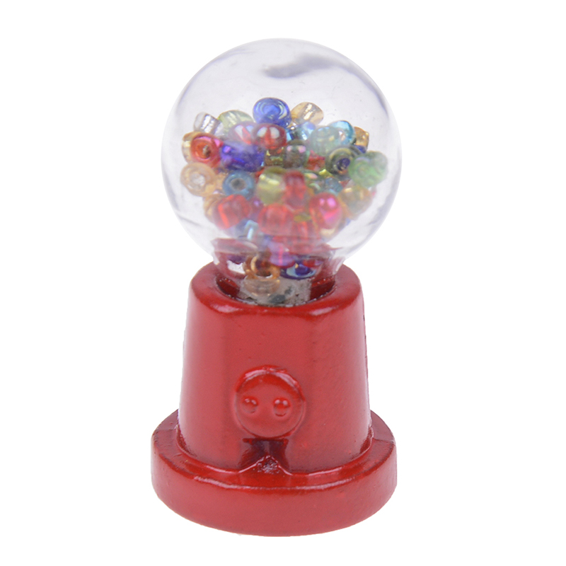 1:12 Scale Classic Candy Machine Doll House Decor Accessories Pretend Play Furniture Toy Dollhouse Miniature Child Gift Toys