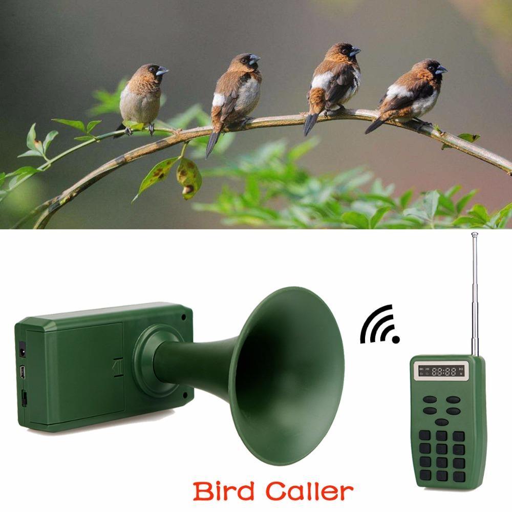 все цены на Outdoor Electronic Hunting Decoy Bird Caller Sound Audio Speaker Music Player With Timer & Remote Controller 200M F3340G онлайн