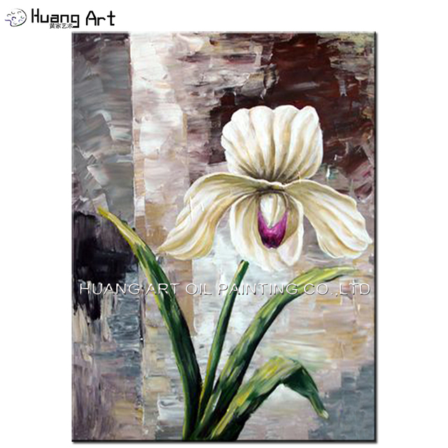 Hand Painted Impression Flower Oil Paintings For Living Room Wall Decor  Modern Beautiful Warm And