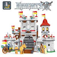 AUSINI 27110 Knights castle series zestaw klocków dla dzieci DIY edukacyjne model kreatywny cegły zabawki dla dzieci