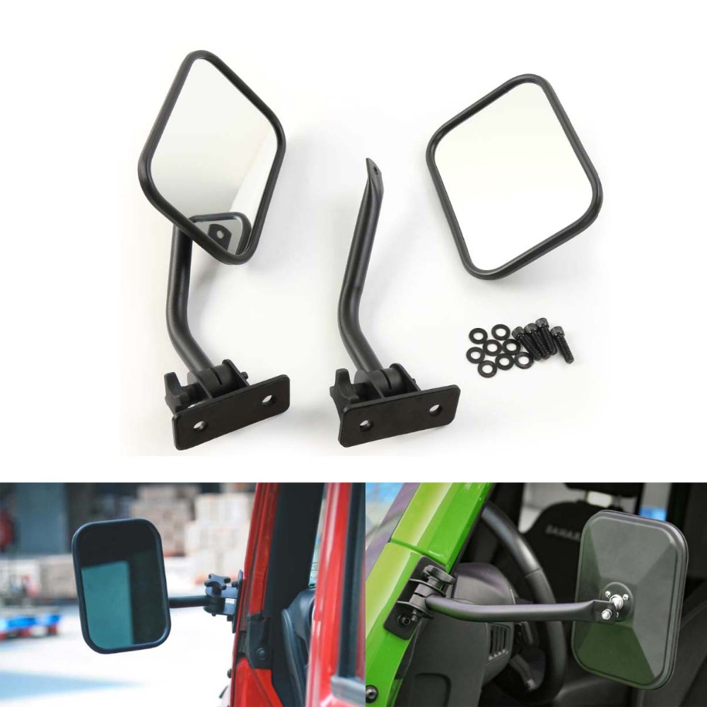 Areyourshop Car Quick Release Mirror Side Mirror for Jeep Wrangler 1997-2017 Left + Right Car Styling Exterior Parts