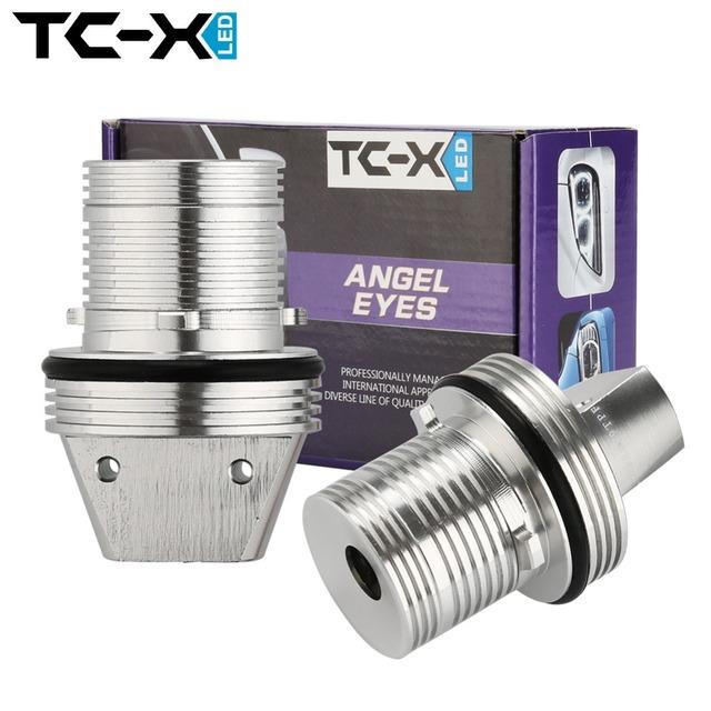 TC-X 2 Unids 10 W 6000 K Angel Eyes Luces de Posición LED de Halo Anillos para BMW E39 E53 E60 E61 E63 E64 E65 E66 E87 Car Bombillas de Alta calidad
