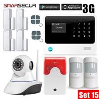 Wireless GSM House Security Burglar Intruder Alarm System Wifi Camera