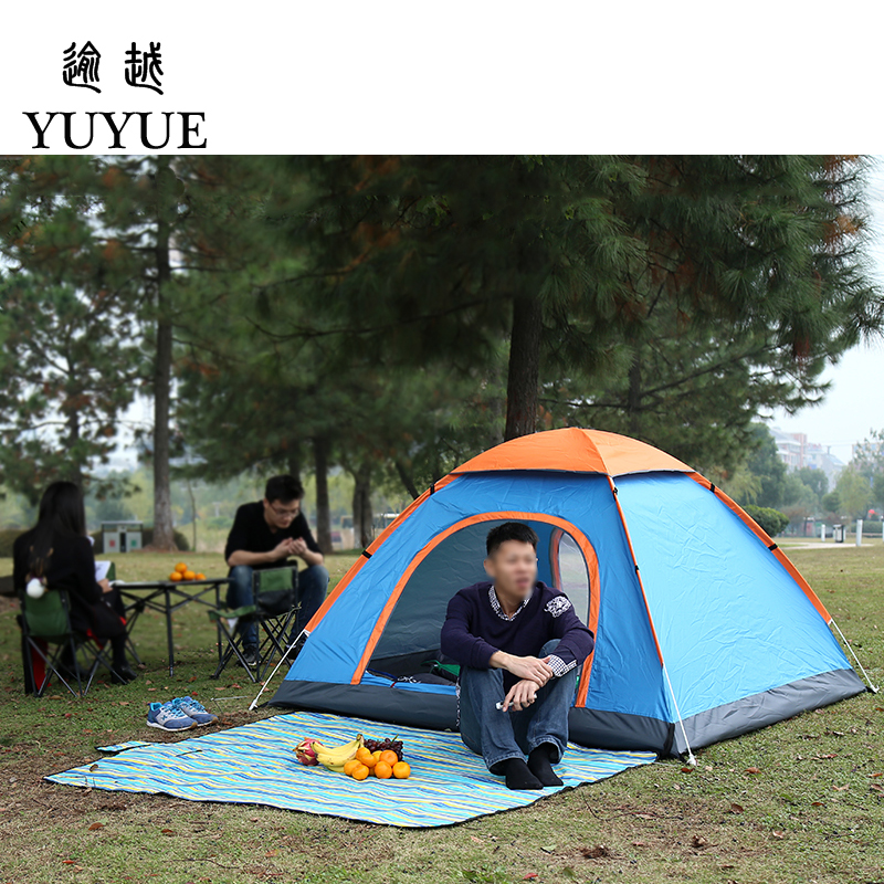 3-4 person tent quick automatic opening outdoor camping tourism pop up outdoor camping tent for hiking family tent  2