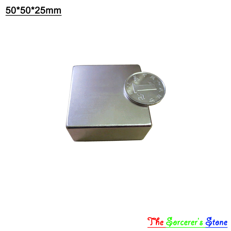 2pcs Super Strong 50x50x25mm Rare Earth Neodymium Block Magnet Free Shipping free shipping sop32 wide body test seat ots 32 1 27 16 soic32 burn block programming block adapter