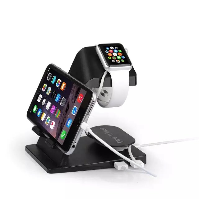 Dual USB 2 output Smart Cell Phone Charger Station Portable Stand Holder Universal For iPhone For