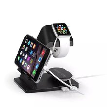 Dual USB 2 output Smart Cell Phone Charger Station Portable Stand Holder Universal For iPhone For iWatch Charging Cradle Bracket