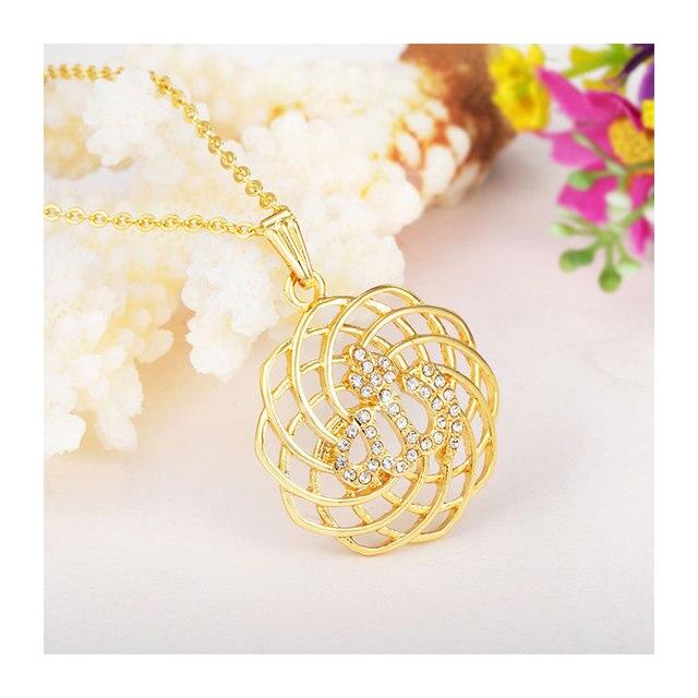 islam gorjuss allah muslim islamic fine jewelry necklace Fashion Gold Color Necklaces Pendants pendant fashion crystal jewellery 4