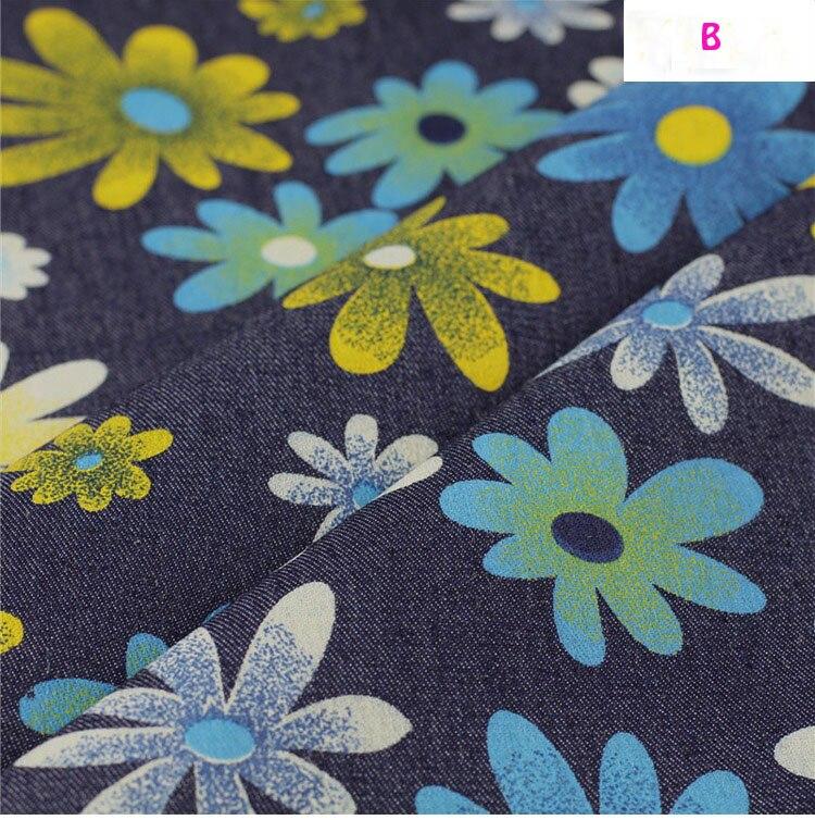 140 * 50cm1pc bun Denim 100% bumbac Fabric moale Stretch Denim Fabric - Arte, meșteșuguri și cusut - Fotografie 2