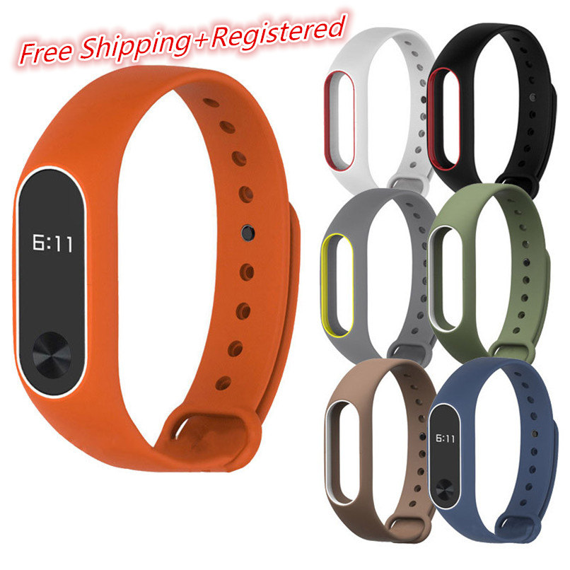 6 Colors Best Price ! New Silicon Wrist Strap WristBand Bracelet Replacement For XIAOMI MI Band 2 Free Shipping H0T0