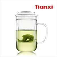 400ML Fruit Tea Glass Mug Heat Resistant Cup Clear Glass With Strainer Filter Herbal Floral Tea