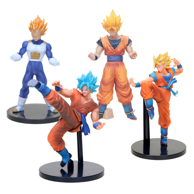 Dragon Ball Z Vegeta Super Figura Grandista Fes Son Goku Super Saiyan Deus Amarelo Azul Cabelo Goku Figura de Ação DO PVC brinquedos modelo